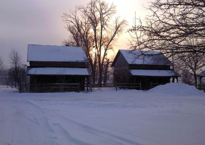 galena-log-cabins-winter
